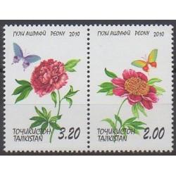 Tajikistan - 2010 - Nb 421/422 - Flowers