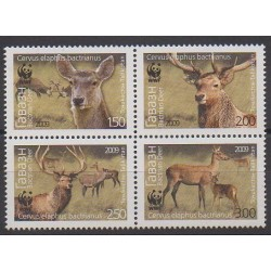 Tajikistan - 2009 - Nb 404/407 - Mamals - Endangered species - WWF