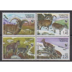 Tajikistan - 2005 - Nb 296/299 - Mamals - Endangered species - WWF