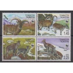 Tadjikistan - 2005 - No 296/299 - Mammifères - Espèces menacées - WWF
