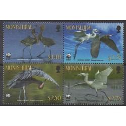 Montserrat - 2010 - No 1360/1363 - Oiseaux - Espèces menacées - WWF