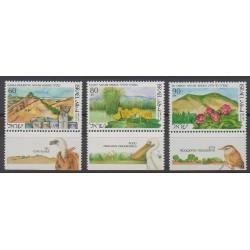 Israël - 1990 - No 1097/1099 - Parcs et jardins