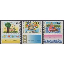 Israel - 1994 - Nb 1255/1257 - Children's drawings - Religion