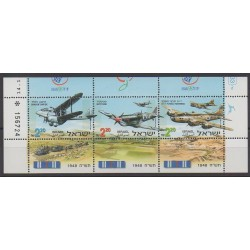 Israel - 1998 - Nb 1405/1407 - Planes - Military history