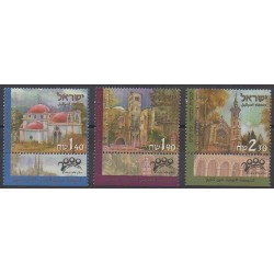 Israël - 2000 - No 1480/1482 - Églises