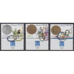 Israël - 2004 - No 1712/1714 - Jeux Olympiques d'été - Monnaies, billets ou médailles