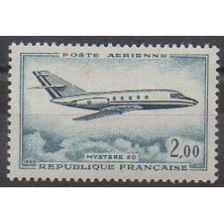 France - Poste aérienne - 1965 - No PA42 - Aviation