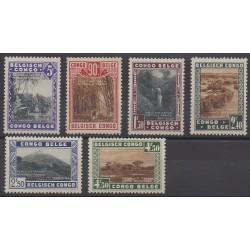 Congo belge - 1938 - No 197/202 - Sites