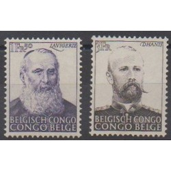 Congo belge - 1951 - No 300/301 - Célébrités