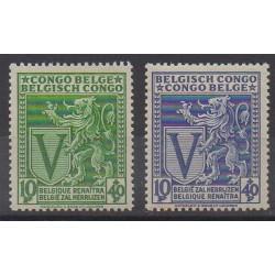 Belgium congo - 1942 - Nb 268/269