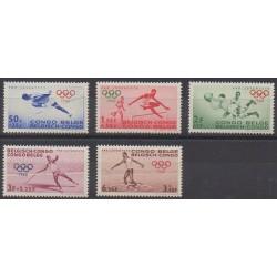 Congo belge - 1960 - No 367/371 - Jeux Olympiques d'été