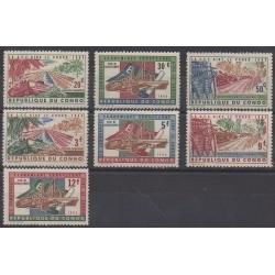 Belgium congo - republic - 1963 - Nb 507/513