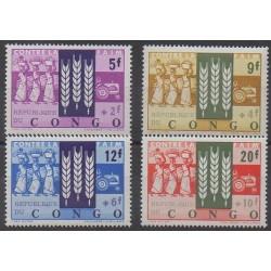 Congo belge - République - 1963 - No 477/480