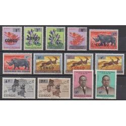 Belgium congo - republic - 1964 - Nb 532/544