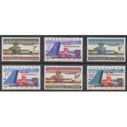 Belgium congo - republic - 1963 - Nb 514/519 - Planes