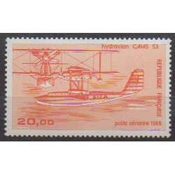 France - Poste aérienne - 1985 - No PA58b - Aviation