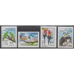 Honduras - 2001 - No PA1040/PA1043 - Oiseaux - Santé ou Croix-Rouge