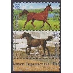 Kirghizistan (Express post) - 2017 - No 54/55 - Chevaux