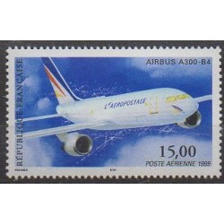France - Airmail - 1999 - Nb PA63 - Planes