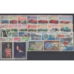 Monaco - complete year - 1967 - Nb 708/735