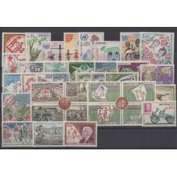 Monaco - complete year - 1963 - Nb 599/635