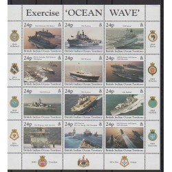 British Indian Ocean Territory - 1997 - Nb 195/206 - Military history