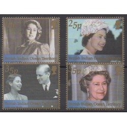 British Indian Ocean Territory - 2002 - Nb 244/247 - Royalty