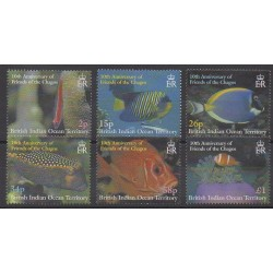 British Indian Ocean Territory - 2002 - Nb 250/255 - Sea animals
