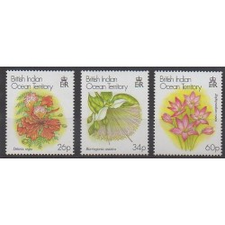 British Indian Ocean Territory - 2000 - Nb 231/233 - Flowers