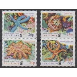 British Indian Ocean Territory - 2001 - Nb 240/243 - Sea animals - Endangered species - WWF