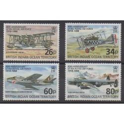 Océan Indien - 1998 - No 207/210 - Aviation - Histoire militaire