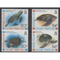 British Indian Ocean Territory - 1996 - Nb 181/184 - Reptils