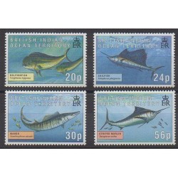 British Indian Ocean Territory - 1995 - Nb 169/172 - Sea animals