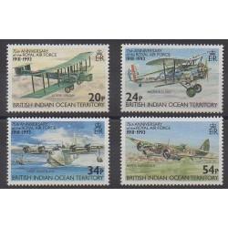 British Indian Ocean Territory - 1993 - Nb 135/138 - Planes - Military history