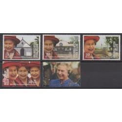 Océan Indien - 1992 - No 118/122 - Royauté - Principauté