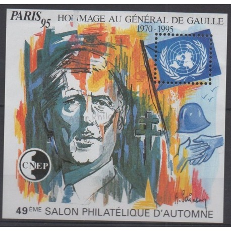 France - CNEP Sheets - 1995 - Nb CNEP 21 - de Gaulle