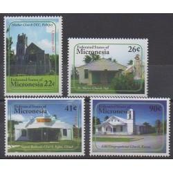 Micronésie - 2007 - No 1564/1567 - Églises