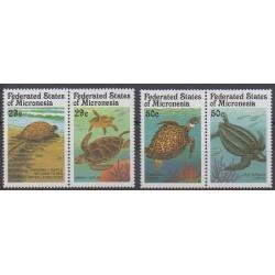 Micronesia - 1991 - Nb 164/167 - Reptils