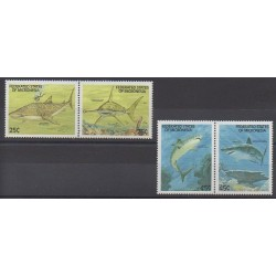 Micronésie - 1989 - No 87/90 - Animaux marins