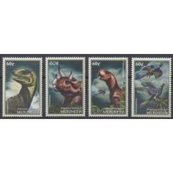 Micronésie - 2001 - No 1028/1031 - Animaux préhistoriques
