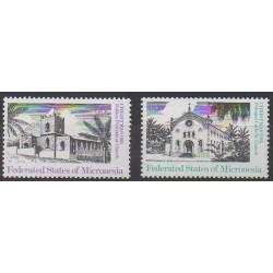 Micronésie - 1985 - No PA10/PA11 - Églises