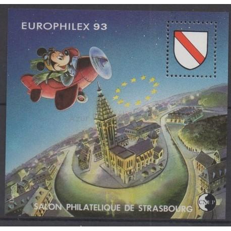 France - Feuillets CNEP - 1993 - No CNEP 17 - Walt Disney