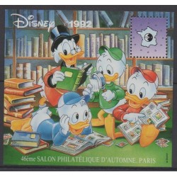 France - CNEP Sheets - 1992 - Nb CNEP 16 - Walt Disney