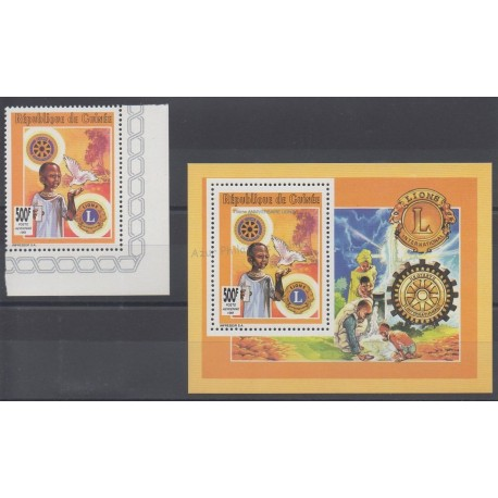 Guinea - 1991 - Nb PA264 et BF