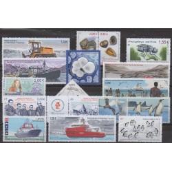 French Southern and Antarctic Territories - Complete year - 2017 - Nb 795/823 - 840/844