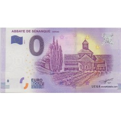 Billet souvenir - Abbaye de Sénanque - 2018-1