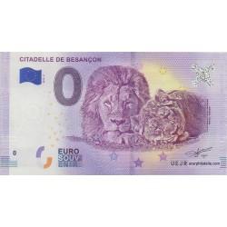 Euro banknote memory - 25 - Citadelle de Besançon - 2018-2