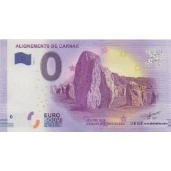 Billet souvenir - Alignements de Carnac - 2018-1