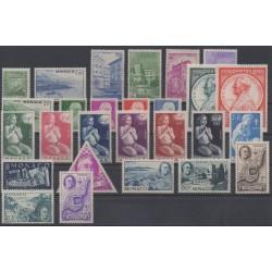 Monaco - année complète - 1946 - No 274/300
