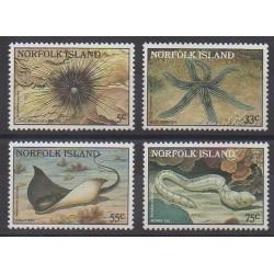 Norfolk - 1986 - Nb 372/375 - Sea animals
